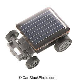 solar, sobre, isolado, fundo, branca, energia