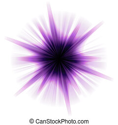Solar Star Burst - A purple star burst or lens flare over a...
