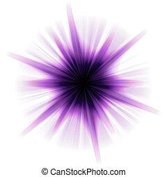 Solar Star Burst - A purple star burst or lens flare over a...