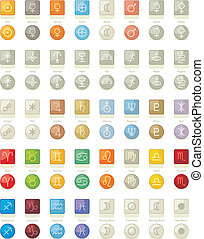 Solar System Icons Pack - Icons pack with symbols of solar...