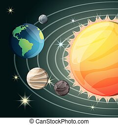 solar system in the universe galaxy