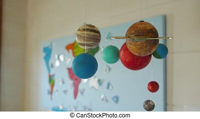 Solar system planets model geography class