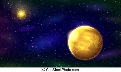 Solar System, Seamless Loop - Fullhd 1920x1080 Progressive ...