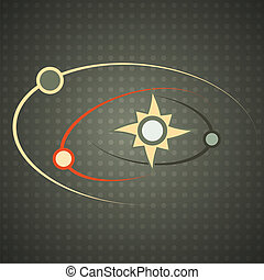 solar system, silhouette (EPS 10 Transparency)