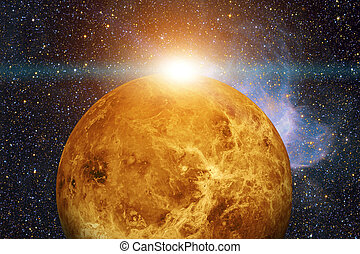 Solar System - Venus. Elements of this image furnished by...