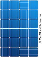 solar, textura, painel