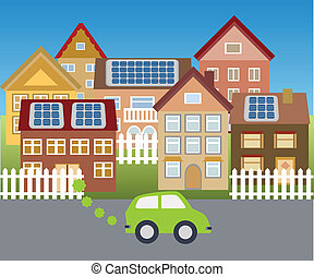 Town powered with solar energy