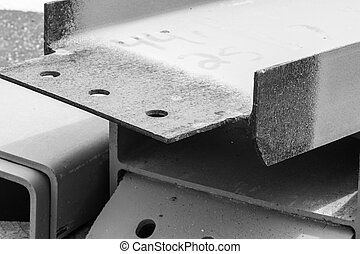 solar, trabajo, materiales, hierro, construcción