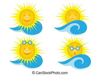 Solar vector icons