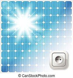 solar, vidraça