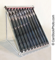 Rooftop solar water collector with glass tubes
