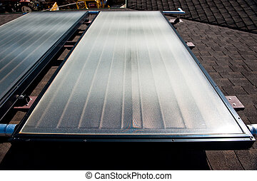 Solar Water Heating System - Rooftop solar hot water heating...