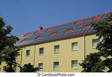 solaranlage, planta, 27, -, solar