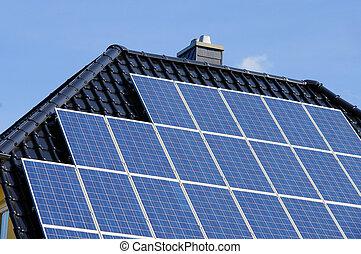solaranlage, planta, -, solar, 96