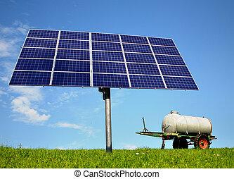 solaranlage, tafel