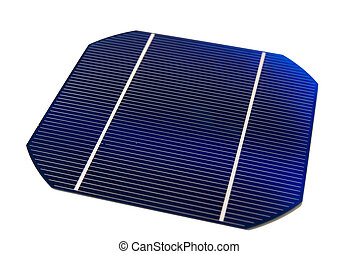 """Solarcell - a isolated 5\"""" solarcell with withe background"""