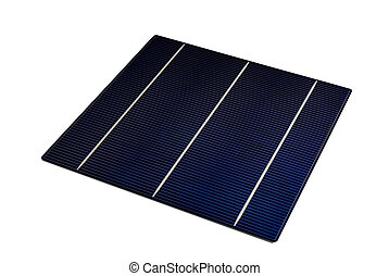 """Solarcell - a isolated 6\"""" solarcell with withe background"""