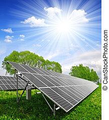 solare, pannelli, energia