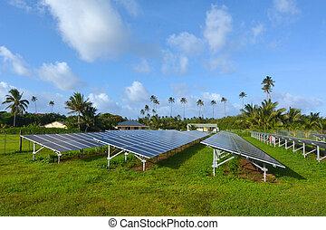 solare, pv, modules, in, rarotonga, cucini isole