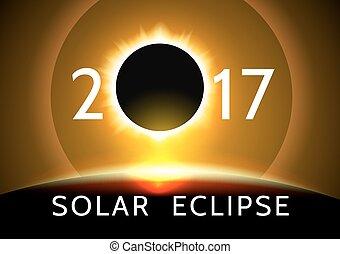solare, /, sole, eclissi, 2017