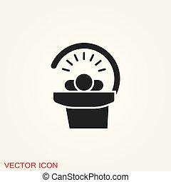 Solarium icon vector sign symbol for design