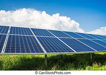 solarpanels, campo