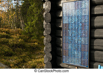 Solarpower. Simpel model often used in recreational places....