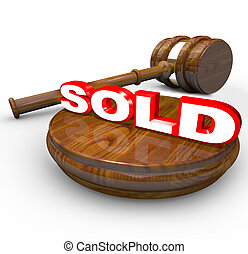 Sold - Gavel Proclaims Final Word on Auction Buy and Selling