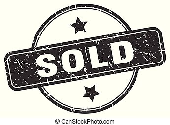 sold grunge stamp