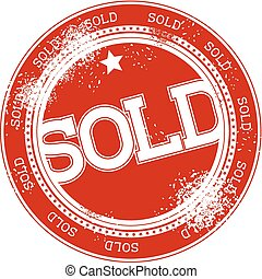 sold grunge stamp vector