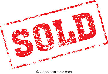 sold - Grungy ink stamp, vector format very easy to edit