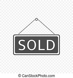 Sold Hanging sign
