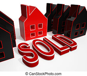 Sold House Displays Sale Of Real Estate