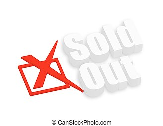 Sold Out 3d Text