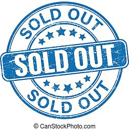 sold out blue textured rubber stamp