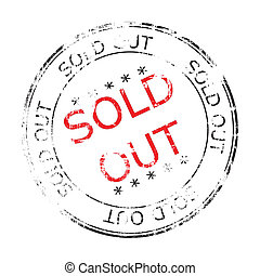 sold out grunge stamp vector illustration - the sold out...