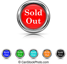 Sold out icon - six colours set