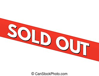 Sold out red bent sticker