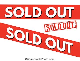Sold out red bent stickers and stamp