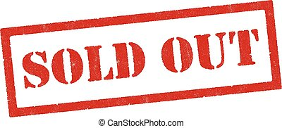 """Vector illustration of realistic """"Sold Out"""" red rubber stamp"""