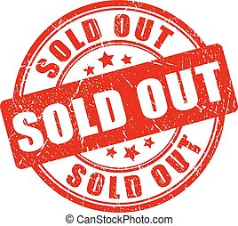 Sold out rubber stamp