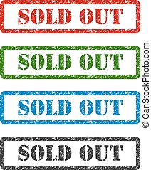 sold out set rubber stamp isolated on background