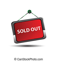 Sold out signs label