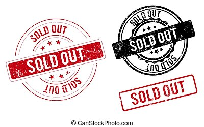 sold out stamp. sold out square grunge sign. sold out