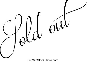 Sold out text sign illustration