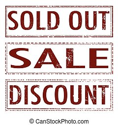 sold out,sale discount stamp
