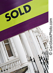 SOLD Real Estate Property sign in London.