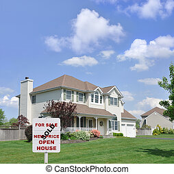 Sold Realty Sign Suburban Home