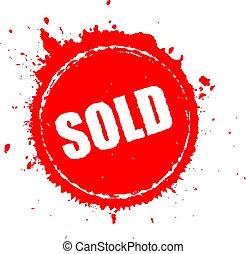 Sold red splash icon