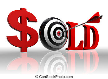sold red word and conceptual target